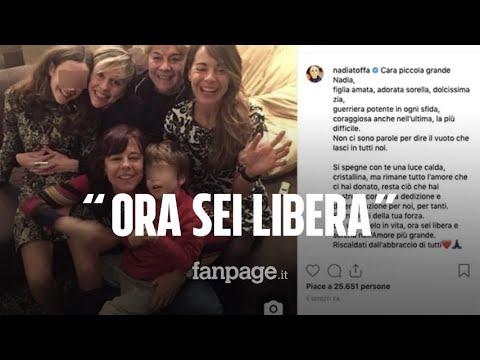 Il commovente messaggio della famiglia di Nadia Toffa su Instagram