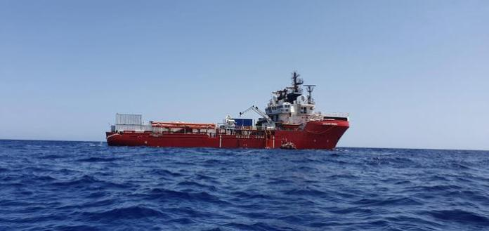 epa07788172 A handout photo made available by the NGO organisation Medecins Sans Frontieres (MSF) showing the Ocean Viking vessel at sea on 23 August 2019, after they received permission to land in Malta. Reports state that after 14 days at sea all 356 people onboard Ocean Viking will finally disembark to Malta. While some EU States finally stepped up with a humane response to this humanitarian disaster, a predictable disembarkation mechanism is needed now!
