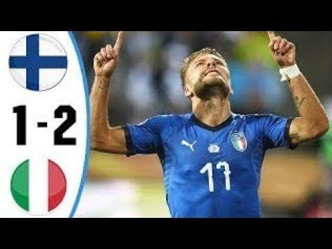 Finlandia vs Italia 1-2 Highlights & Goals