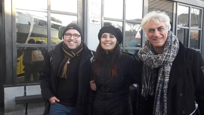 Da sinistra: il regista Totaro, l'attrice Manuela Boccanera, e l'attore A. Del Nobile (SQ - facebook)