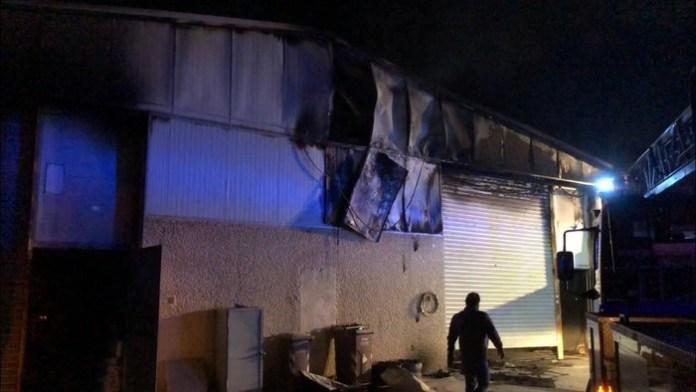 Incendio in centro raccolta rifiuti nel Foggiano, a Carapelle - PH ANSA PUGLIA