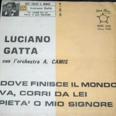 1965-Copertina -prima incisione - 45 giri del cantante Luciano Gatta-archivio Franco Rinaldi