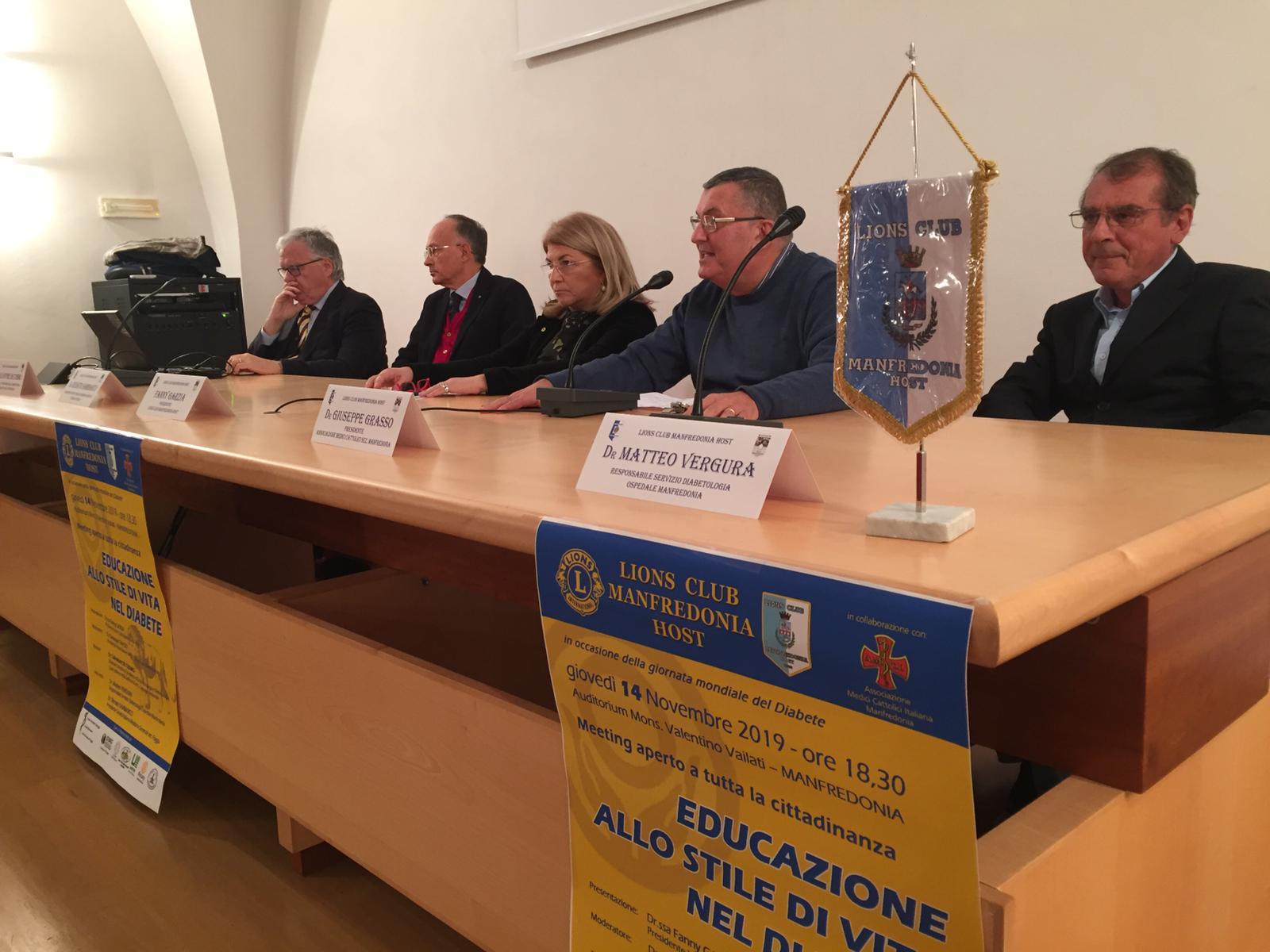 Giornata mondiale Diabete, incontro informativo Lions Club Manfredonia Host - StatoQuotidiano.it