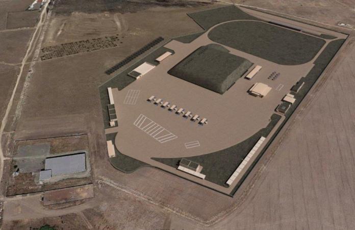 Il progetto visto dall'alto. Fonte: http://www.energasmanfredonia.it/