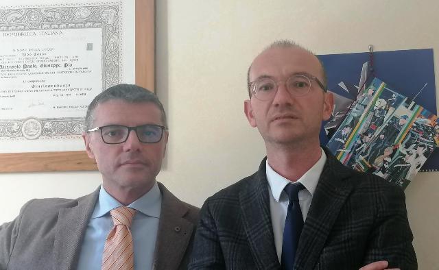 DA SINISTRA: gli avvocati Paolo Attanasio e Alessandro Caterino del Foro di Foggia (SQ)
