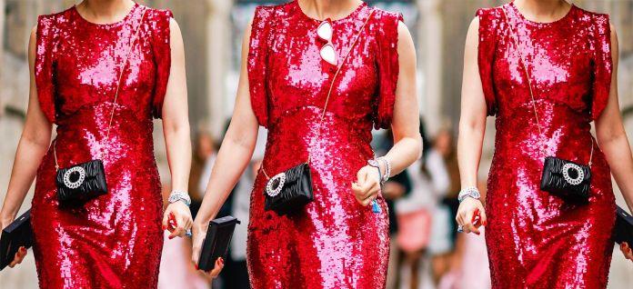 Vestiti paillettes (fonte image archivio Elle)