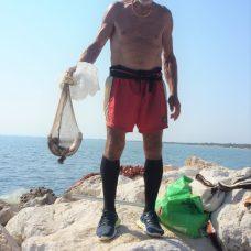 Il pescatore Pietro Triennese detto Sckàrdine