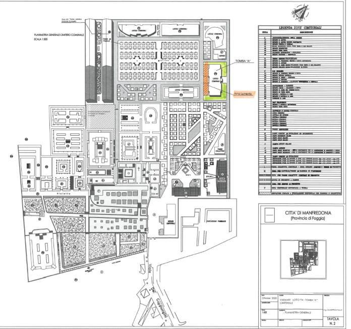 Manfredonia, 27 ottobre 2020. Con recente atto della Commissione straordinaria del Comune di Manfredonia, con poteri di Consiglio comunale, è stato approvata la modifica al Piano Regolatore Cimiteriale