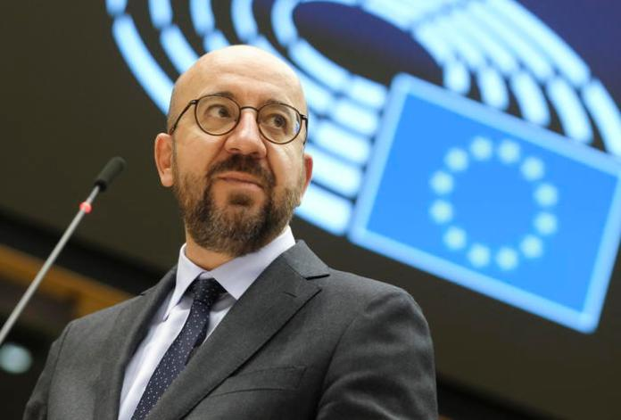 European Council President Charles Michel reports on last week's European Summit during a plenary session at the European Parliament in Brussels, Belgium, 21 October 2020. ANSA/OLIVIER HOSLET / POOL