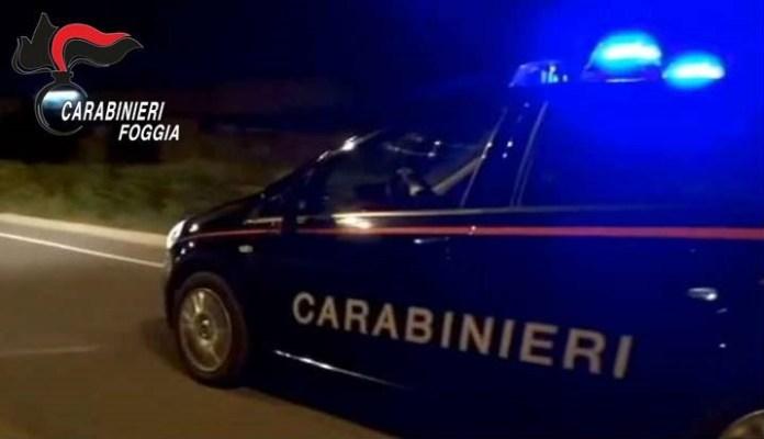 FOTO, INTERVENTO CARABINIERI NOTTE