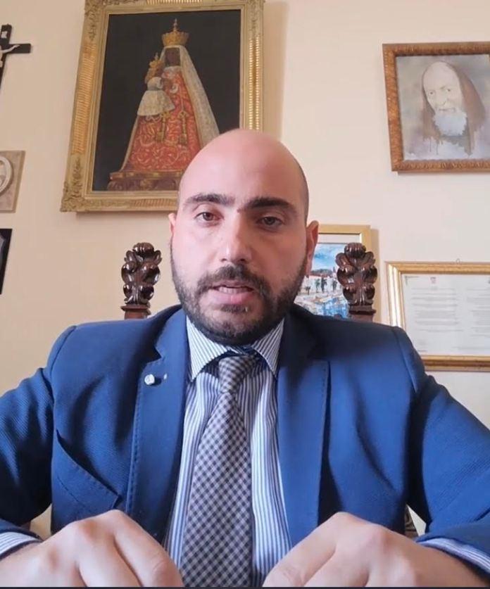 Il sindaco di Lucera, Giuseppe Pitta (frame video)