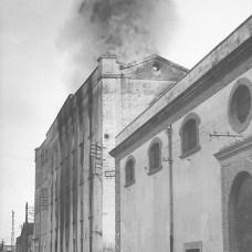 15 dicembre 1950-Incendio del mulino-pastificio in via Principe Umberto, poi via Antiche Mura