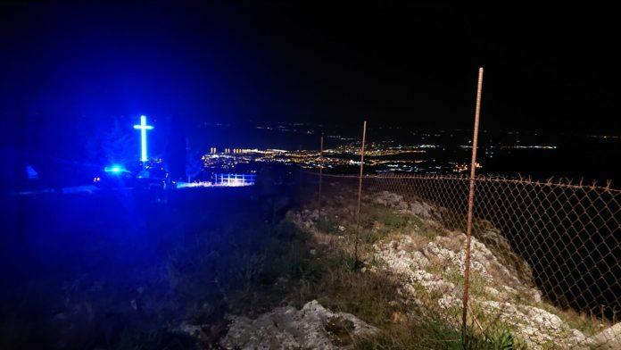 Manfredonia, 03 marzo 2021. Intervento dei Vigili del Fuoco di Manfredonia in seguito a una chiamata di 4 ragazzi che si sono dispersi lungo il sentiero che dall'Abbazia di Pulsano porta a Manfredonia.