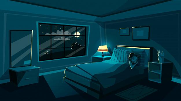 Freepik Giovane donna sveglia che dorme nella camera da letto alla notte