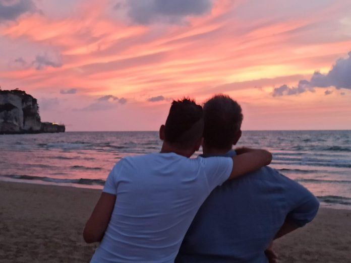Fabio e Roberto, spiaggia di Rodi Garganico