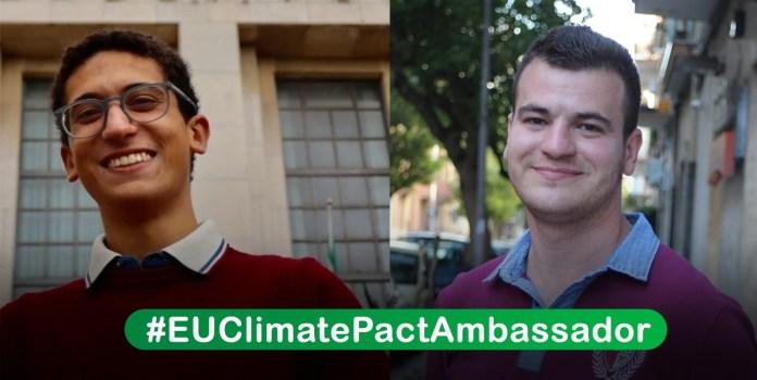 Eccoli i due Ambasciatori del Clima, poco più che diciottenni ma con tanto entusiasmo alle spalle