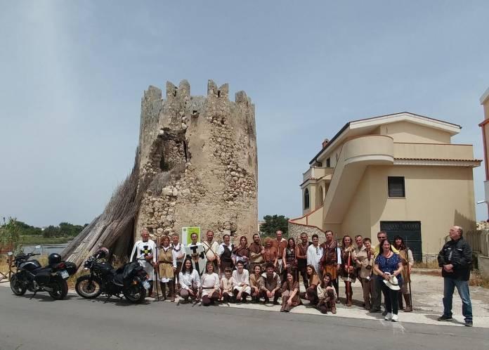 gruppo arcieri Turris Maior con Laganella, Rauzino e Beniamino Piemontese