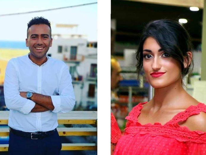 Gli attivisti del Meetup Movimento 5 Stelle di Manfredonia: Gianluca Totaro e Rosangela D'aNGELO