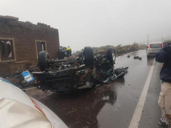 The damages caused by the tornado that hit Pantelleria, Sicily, southern Italy, 10 September 2021. A tornado that hit the island of Pantelleria caused, according to the rescuers, the death of two people and the injury of nine others. Searches for any missing persons are still ongoing. The tornado hit at least ten cars in full force.