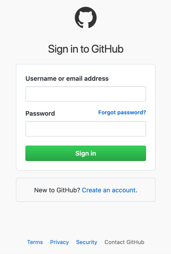 Step 1: Go to github.com/login and sign in
