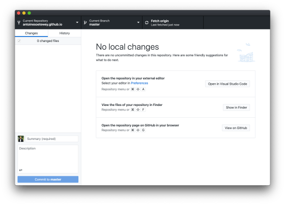Step 5: Open the GitHub Desktop application and sign in with your GitHub account