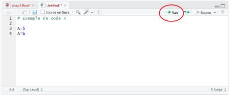 Run code in RStudio