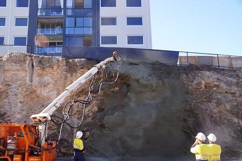 Earthwork Supervision - Shotcrete fibre reinforced treatment supervision