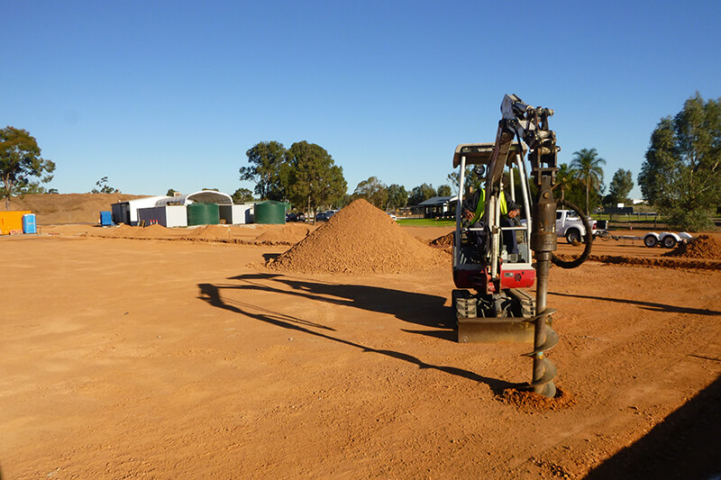 Site Investigation - Test Pitting: Excavator with Auger