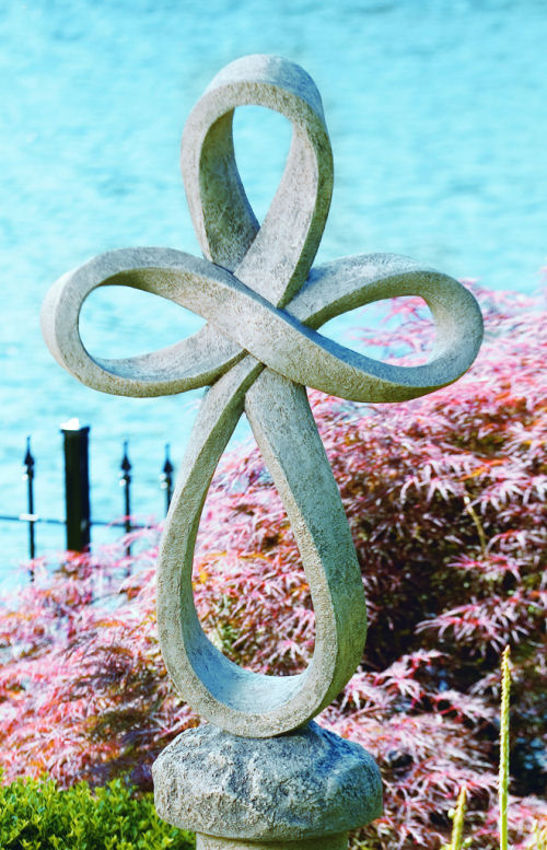 Eternity Cross Garden Statue 38.5