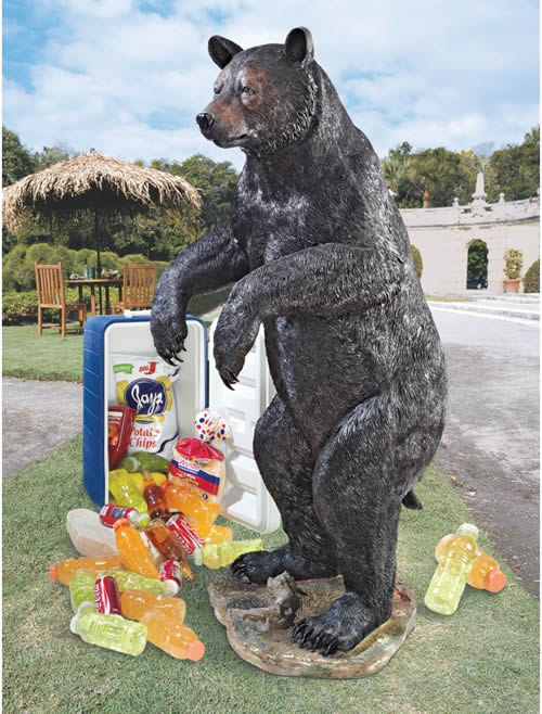 Fishing For Trouble Bear Statue 60