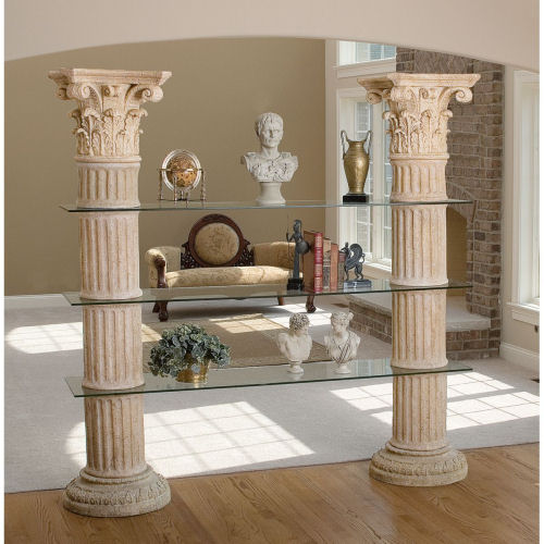Columns Of Corinthian Shelves Display Unit