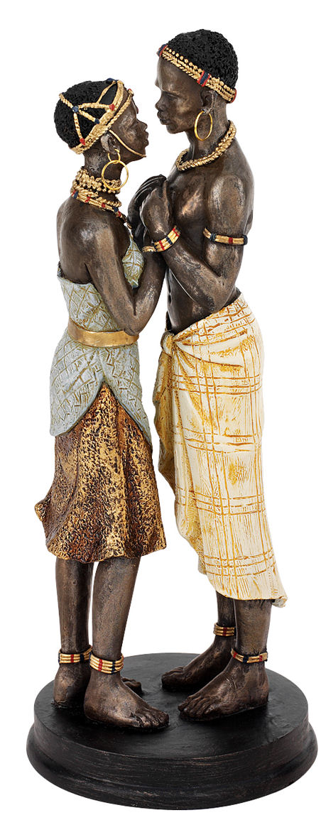 Body And Soul African Lovers Statue