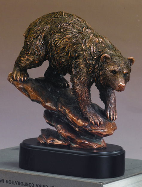 Bear On Rock Sculpture, Corporate Award, Trophy