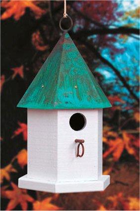 Copper Songbird Birdhouse