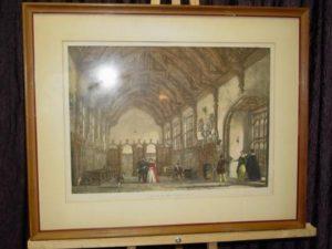 antique-frame-print-hall-milton-abbey-dorsetshire-aa102-1