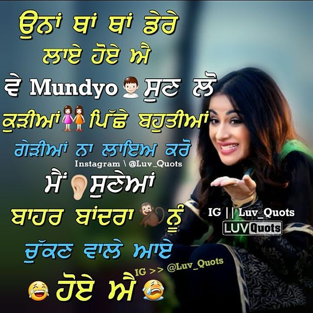 Punjabi Funny Lines