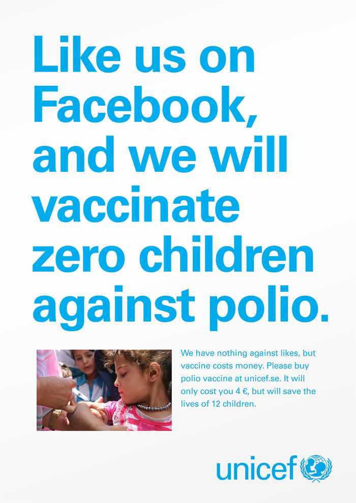 Unicef - Likes Don't save Lives