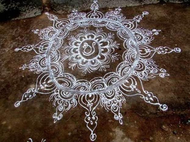 simple beautiful rangoli design for diwali