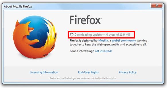 Actualizar Mozilla Firefox paso 2