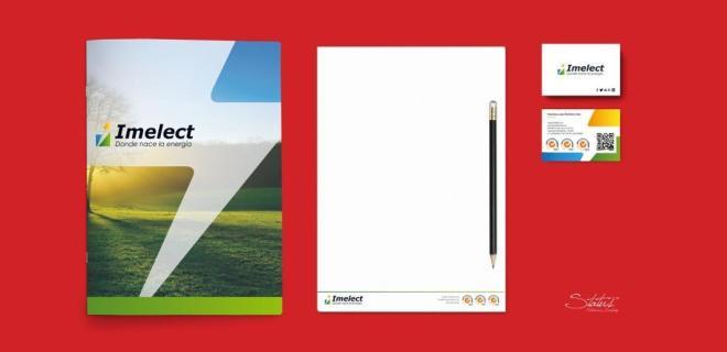Identidad corporativa en papelería de Imelect