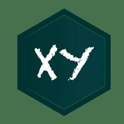 xy hexagon logo
