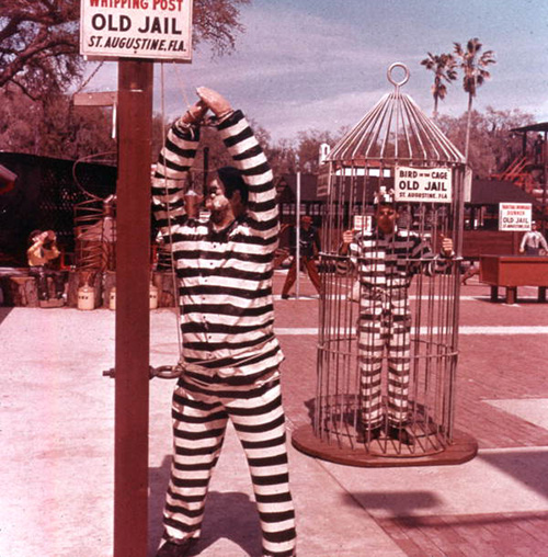 Old Jail Whipping Post and Birdcage