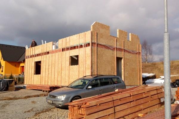 Postavený dům - RD Patrový Libchava -pomalá stavba :-)