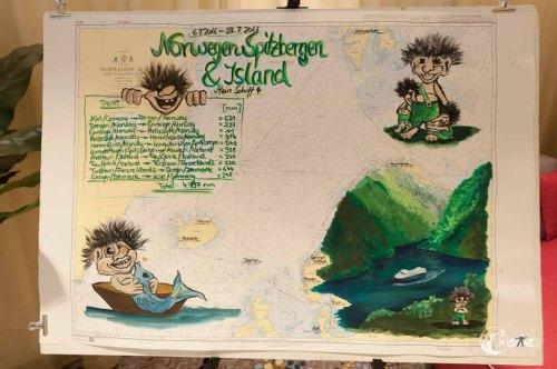 Die Seekarte zu unserer Reise.