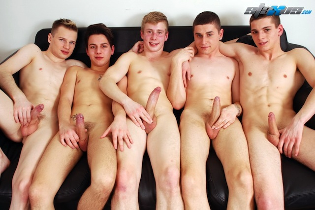 Staxus put together an awesome twink orgy with a gang of bareback boys! (4)