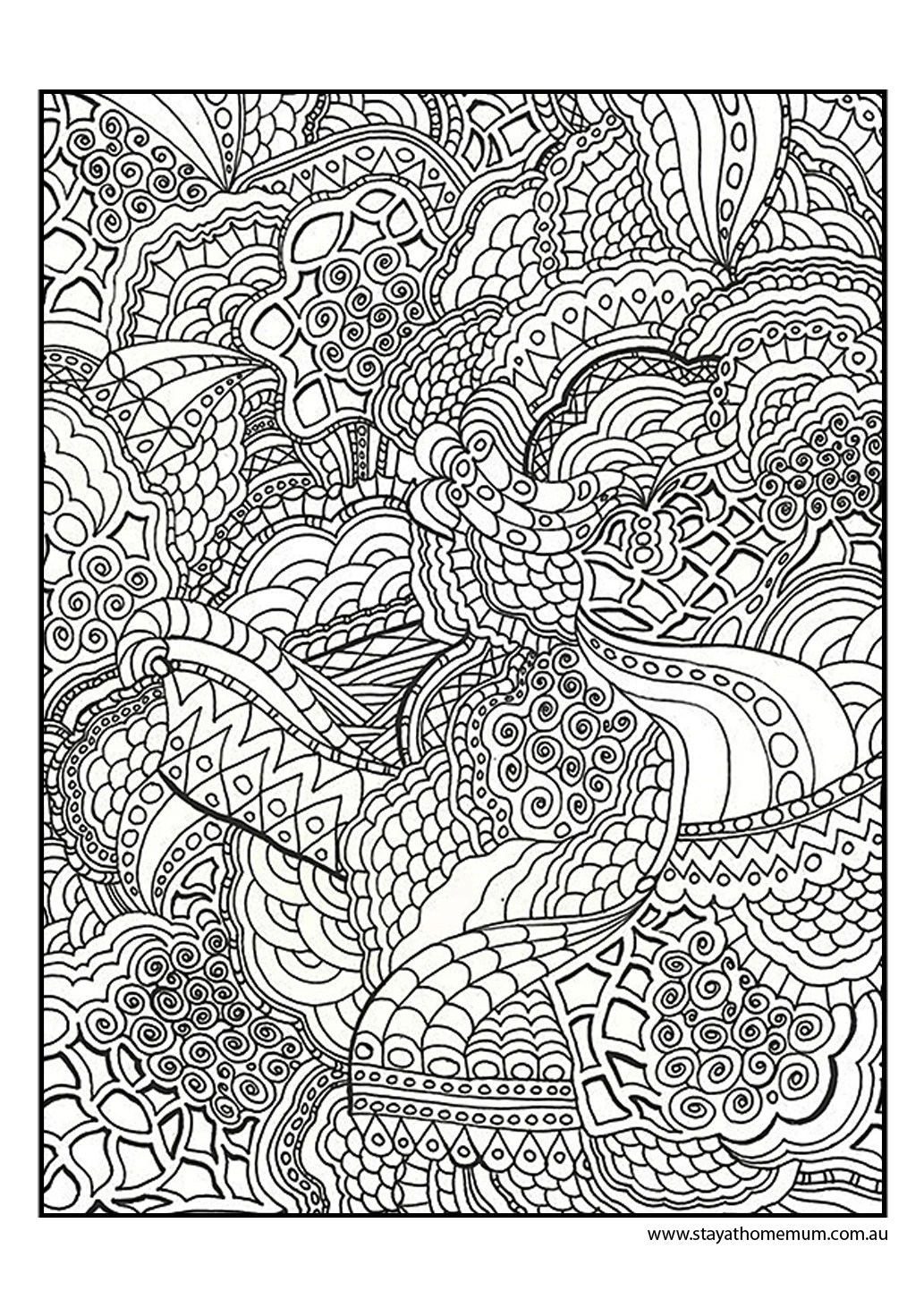 Printable Colouring Pages for Kids and Adults | free fun coloring pages for adults