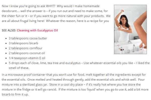 Homemade Deodorant | Stay At Home Mum