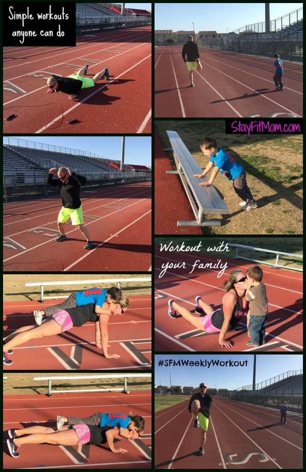Track Workout-Love these workouts from stayfitmom.com. I can do them all of them from home with my kiddos! They're not too long, but pretty intense!!
