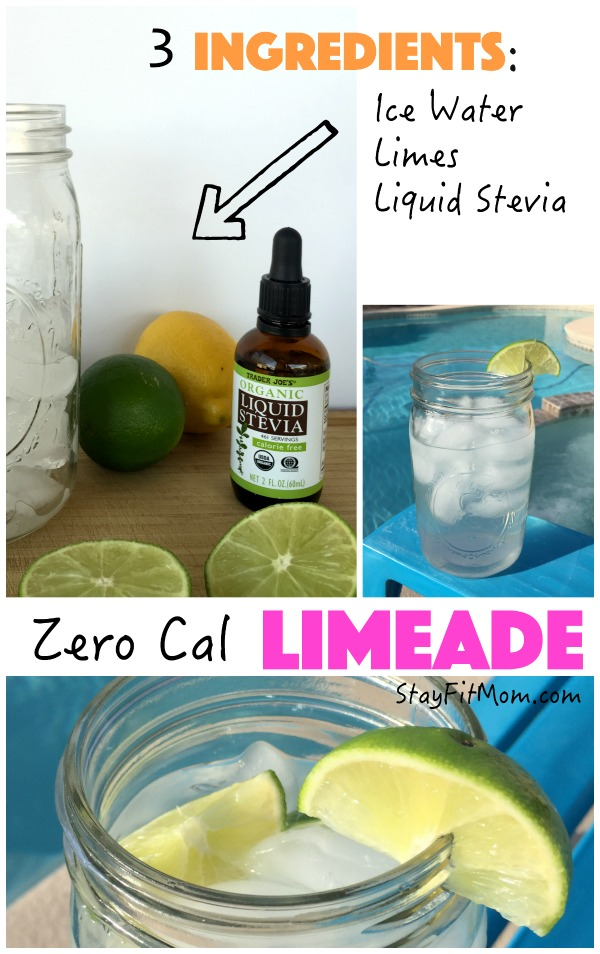 A healthy alternative to your average limeade. Made with fresh limes and stevia. I've got to try this!