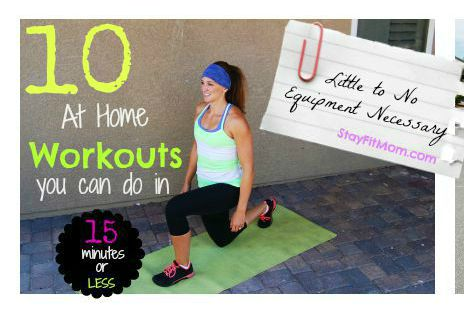 10 at-home workouts that can be done in less than 15 minutes!